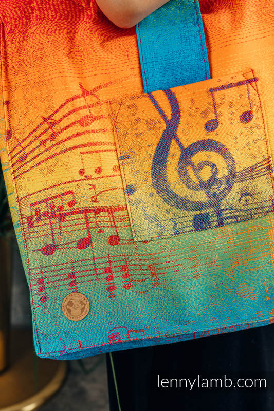 Shoulder bag made of wrap fabric (100% cotton) - RAINBOW SYMPHONY - standard size 37cmx37cm #babywearing