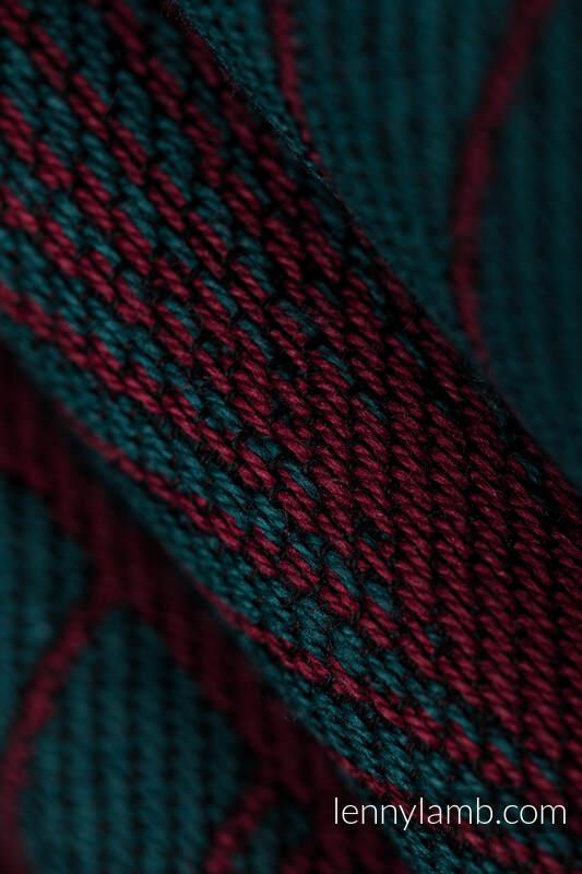 Shoulder bag made of wrap fabric (100% cotton) - DECO - MAROON MOSS - standard size 37cmx37cm #babywearing