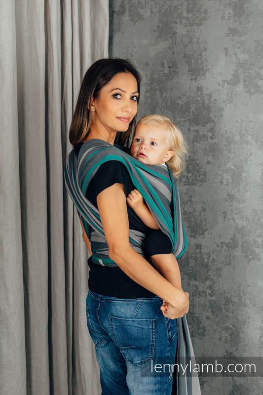 Fular, sarga cruzada - SMOKY - MINT - talla L (grado B) #babywearing