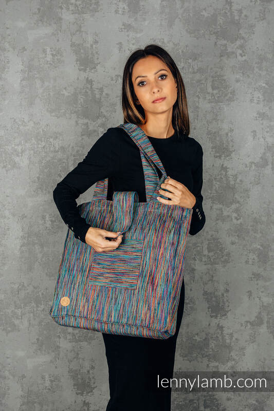 Shoulder bag made of wrap fabric (100% cotton) - COLORFUL WIND - standard size 37cmx37cm #babywearing