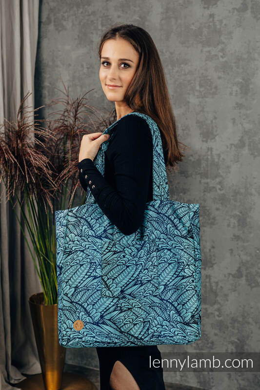 Shoulder bag made of wrap fabric (100% cotton) - WILD SOUL - REBIRTH - standard size 37cmx37cm #babywearing
