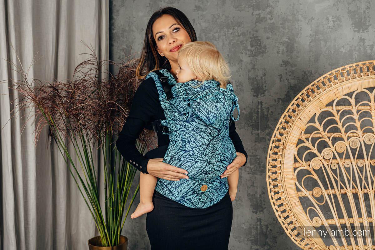 LennyGo Ergonomic Carrier, Baby Size, jacquard weave 100% cotton - WILD SOUL - REBIRTH  #babywearing