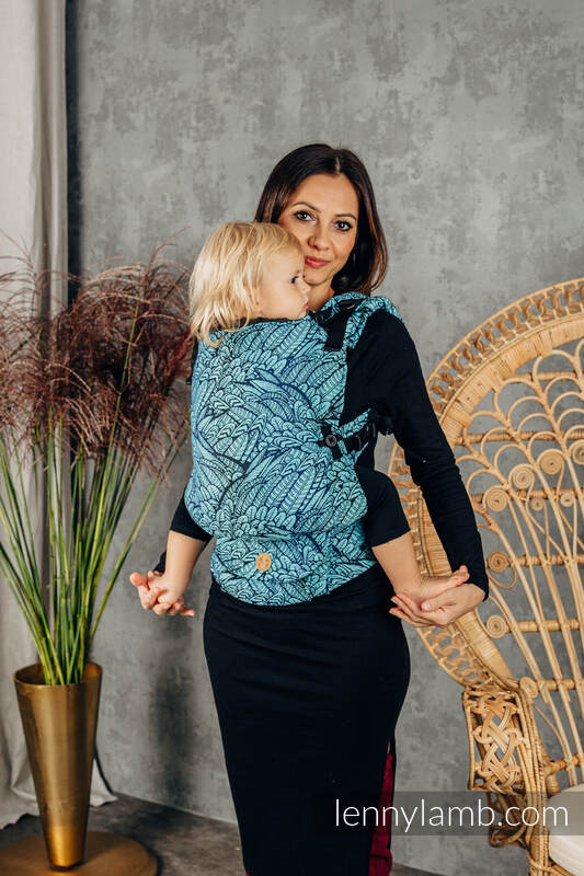 LennyUpGrade Carrier, Standard Size, jacquard weave 100% cotton - WILD SOUL - REBIRTH   #babywearing