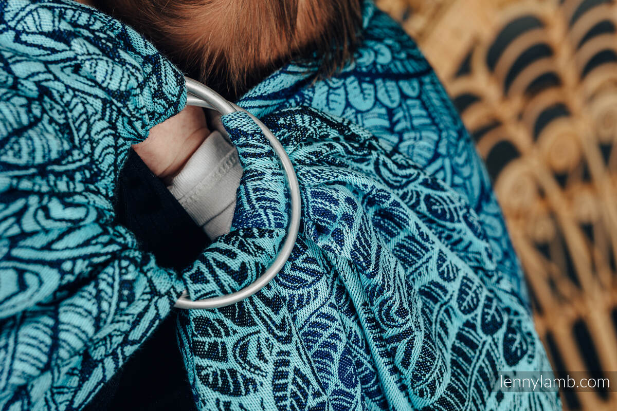 Żakardowa chusta kółkowa do noszenia dzieci, (100% bawełna), ramię bez zakładek - WOLNY DUCH - REBIRTH - standard 1.8m #babywearing