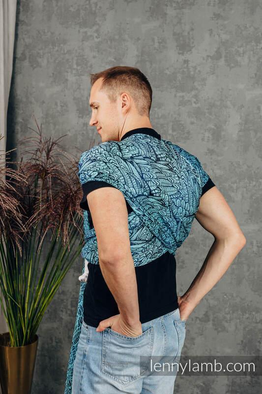 Baby Wrap, Jacquard Weave (100% cotton) - WILD SOUL - REBIRTH - size XS #babywearing