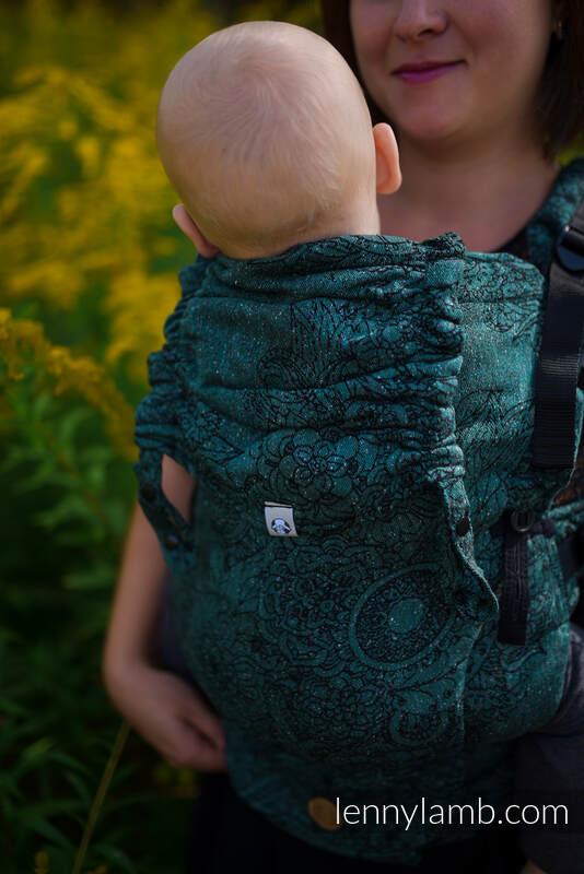 LennyUpGrade Carrier, Standard Size, jacquard weave (51% cotton 49% silk) - WILD VINE - IVY #babywearing