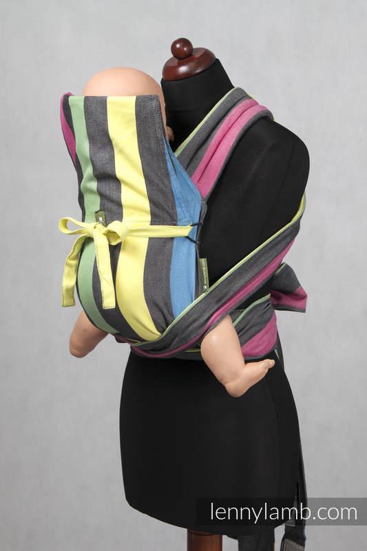 Mei Tai carrier Mini/ broken twill / bamboo and cotton / with hood/ Twilight #babywearing