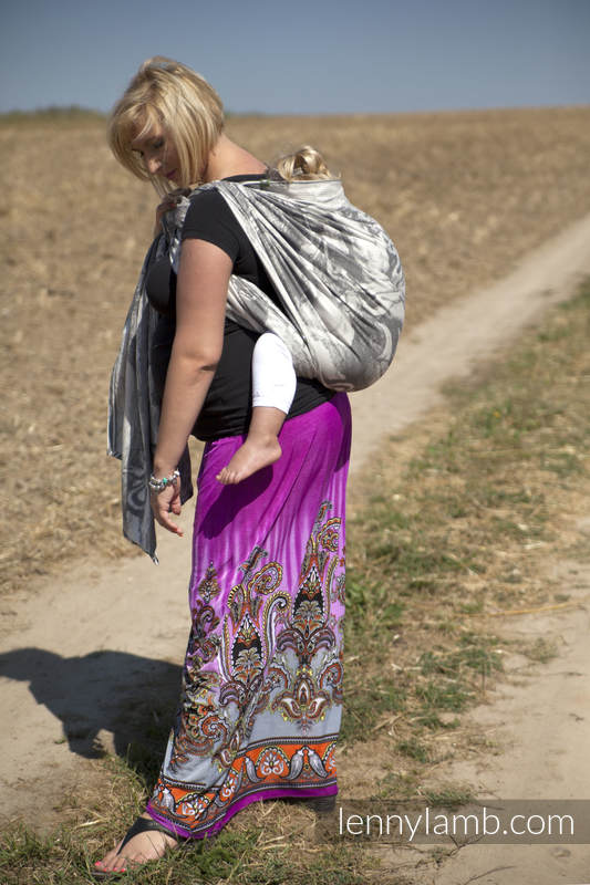 Baby Wrap, Jacquard Weave (100% cotton) - POSEIDON - size XL (grade B) #babywearing