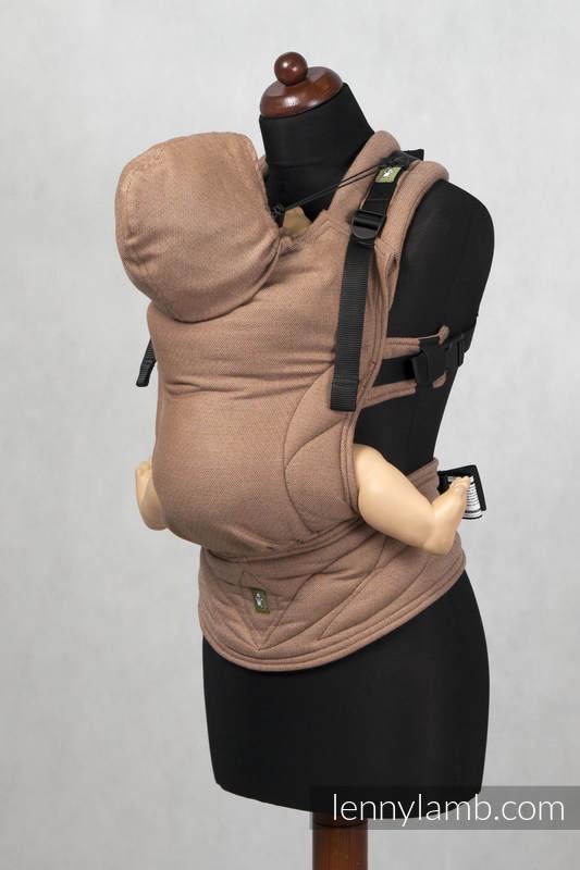 Mochila ergonómica, talla bebé, tejido diamante 100% algodón - BROWN DIAMOND - Segunda generación (grado B) #babywearing