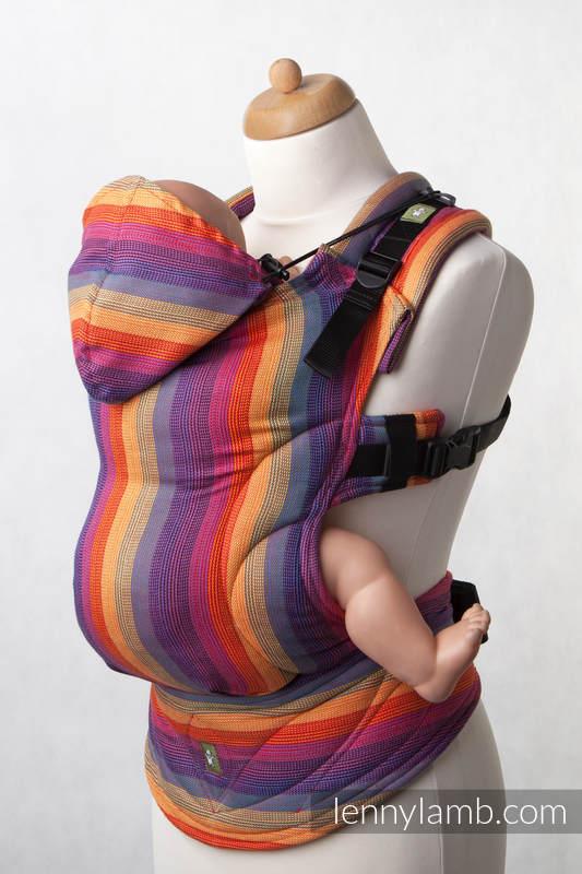 Nosidełko Ergonomiczne z tkaniny skośnokrzyżowej 100% bawełna, Toddler Size, TROPIKANA BAWEŁNA - Druga Generacja #babywearing