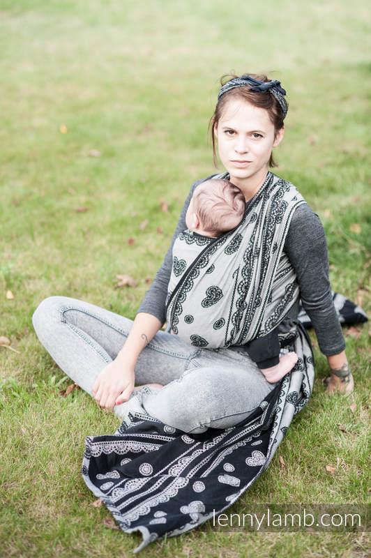 Żakardowa chusta do noszenia dzieci, 100% bawełna - KORONKA GLAMOUR - rozmiar L #babywearing