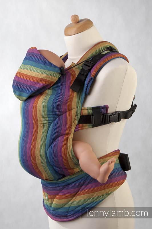 Nosidełko Ergonomiczne z tkaniny skośnokrzyżowej 100% bawełna, Toddler Size, PARADISO BAWEŁNA - Druga Generacja #babywearing
