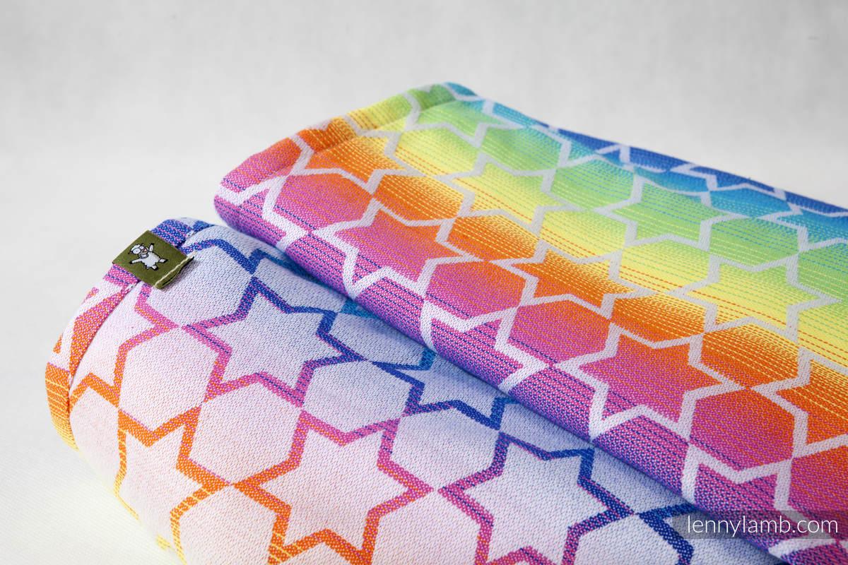 Baby Wrap, Jacquard Weave (100% cotton) - Rainbow Stars - size XS #babywearing
