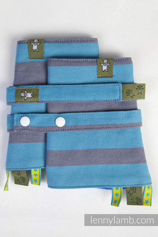Drool Pads & Reach Straps Set, (60% cotton, 40% polyester) - MISTY MORNING #babywearing