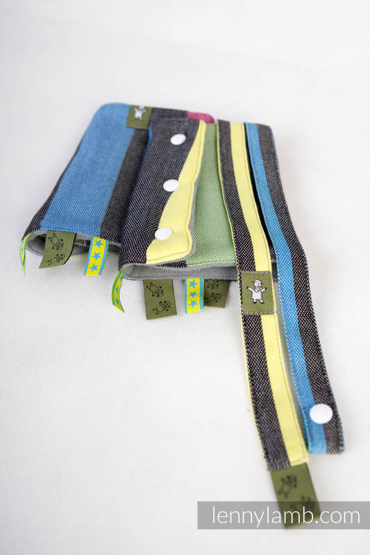 Set de protege tirantes y tiras de alcance (Outer fabric - 60% algodón, 40% viscosa de bambú; Lining - 100% Poliéster) - TWILIGHT (grado B) #babywearing