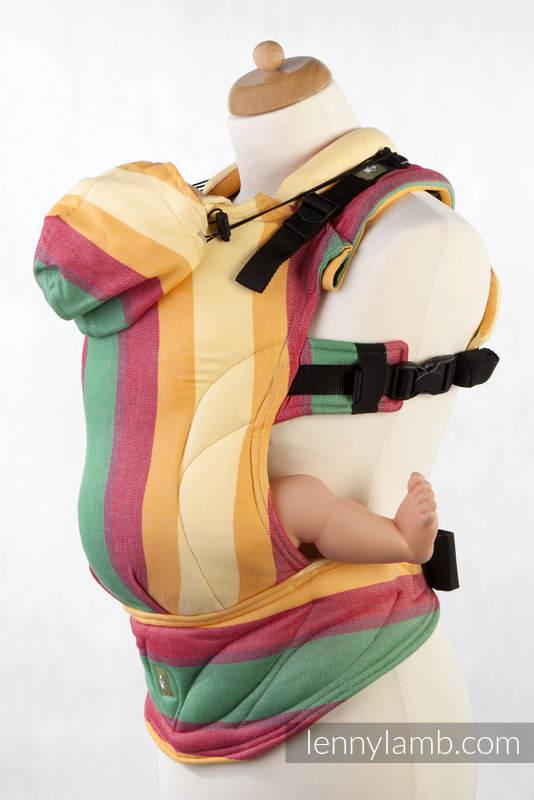 Nosidełko Ergonomiczne z tkaniny skośnokrzyżowej 60% bawełna 40% bambus , Baby Size, WIOSNA (drugi gatunek) - Druga Generacja #babywearing