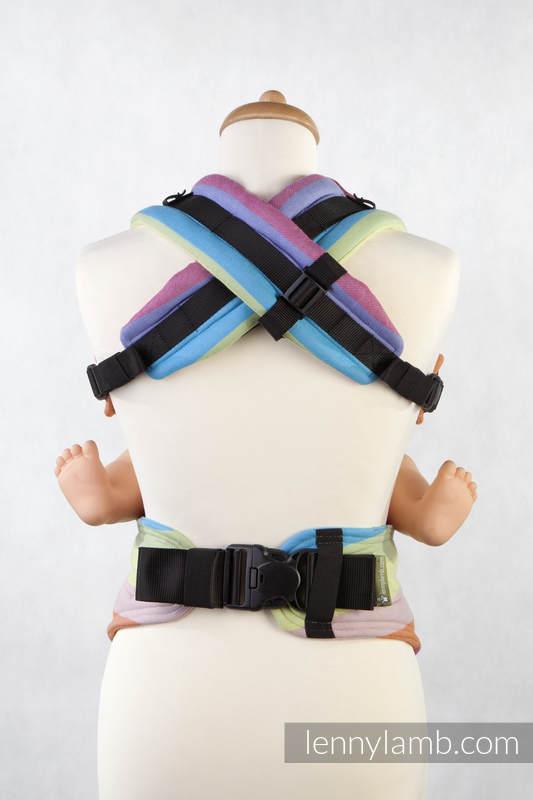 Nosidełko Ergonomiczne z tkaniny skośnokrzyżowej 100% bawełna , Toddler Size, RAFA KORALOWA - Druga Generacja. #babywearing