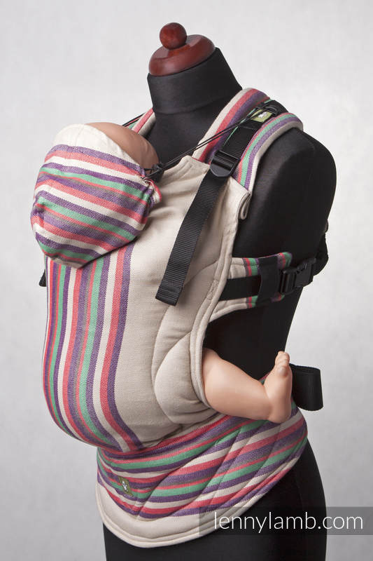 Nosidełko Ergonomiczne z tkaniny skośnokrzyżowej 100% bawełna , Baby Size, PIASKOWA DOLINA (drugi gatunek) #babywearing