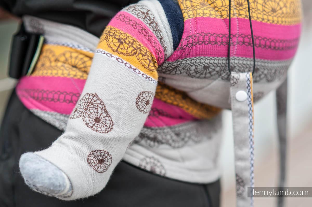 LennyLegs - baby leg warmers - COFFEE LACE #babywearing