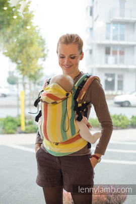 Ergonomic Carrier, Baby Size, broken-twill weave 100% cotton - wrap conversion from SUNNY SMILE- Second Generation (grade B)