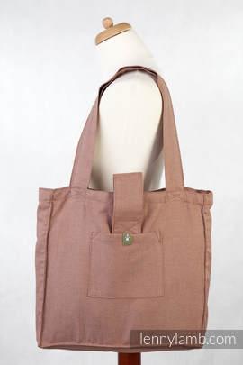 Torba na ramię z materiału chustowego, (100% bawełna) - BRĄZOWY DIAMENT - uniwersalny rozmiar 37cmx37cm