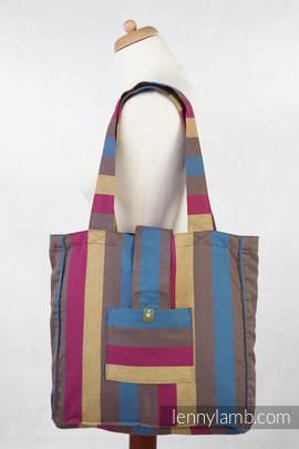 Torba na ramię z materiału chustowego, (100% bawełna) - LEŚNA ŁĄKA - uniwersalny rozmiar 37cmx37cm