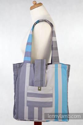 Torba na ramię z materiału chustowego, (100% bawełna) - MGLISTY PORANEK - uniwersalny rozmiar 37cmx37cm