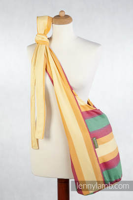 Hobo Bag made of woven fabric, 60% cotton 40% bamboo - SPRING