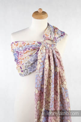 Ringsling, Jacquard Weave (100% cotton) - with gathered shoulder - COLORS OF LIFE (grade B)