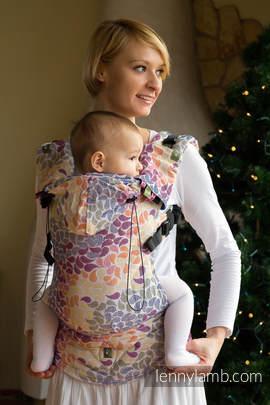 Nosidełko Ergonomiczne z tkaniny żakardowej 100% bawełna , Baby Size, KOLORY ŻYCIA - Druga Generacja