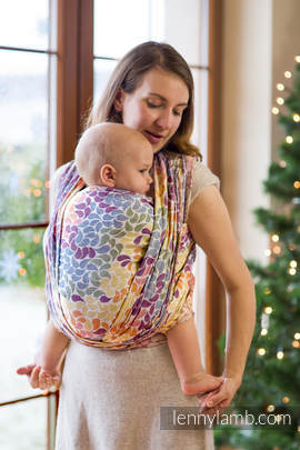 Baby Wrap, Jacquard Weave (100% cotton) - COLORS OF LIFE - size L (grade B)