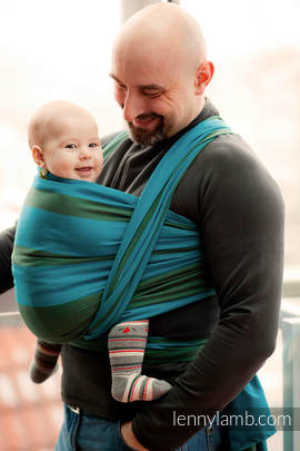 Baby Sling, Broken Twill Weave (100% Cotton) - MOUNTAIN SPRING - size XL