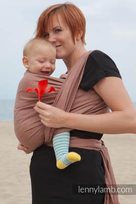 Baby Sling, Diamond Weave, 100% cotton - Brown Diamond - size XL