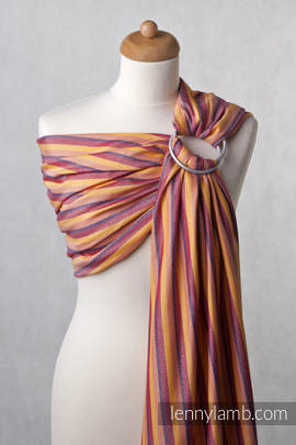 Ringsling, Diamond Weave (60% cotton, 40% bamboo), with gathered shoulder - Helios (grade B)