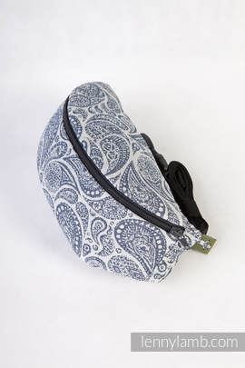 Waist Bag made of woven fabric, (100% cotton) - PAISLEY NAVY BLUE & CREAM (grade B)