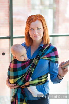 Baby Sling, Diamond Weave, 100% cotton - DIAMOND PLAID - size M