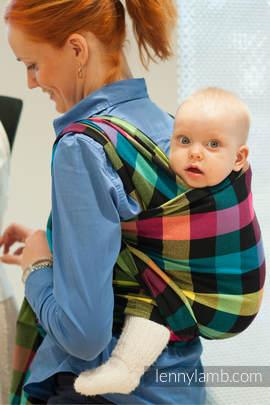 Baby Sling, Diamond Weave, 100% cotton - DIAMOND PLAID - size S (grade B)