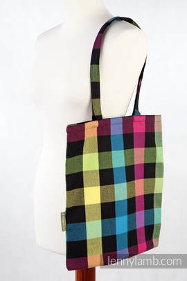 Shopping bag made of wrap fabric (100% cotton) - DIAMOND PLAID