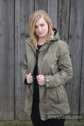 Parka Coat - size M - Khaki & Customized Finishing