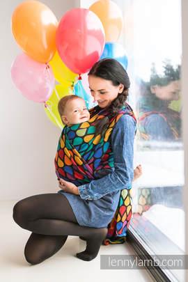 Baby Wrap, Jacquard Weave (100% cotton) - JOYFUL TIME - size L (grade B)