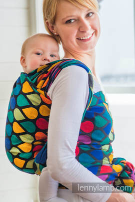 Baby Wrap, Jacquard Weave (100% cotton) - JOYFUL TIME - size L