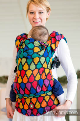 Ergonomic Carrier, Baby Size, jacquard weave 100% cotton - wrap conversion from JOYFUL TIME, Second Generation (grade B)