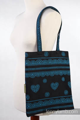 Shopping bag made of wrap fabric (100% cotton) - DIVINE LACE