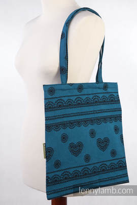 Shopping bag made of wrap fabric (100% cotton) - DIVINE LACE, Reverse