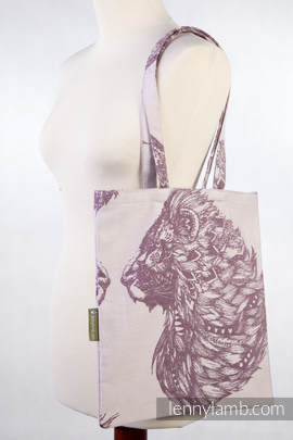 Shopping bag made of wrap fabric (100% cotton) - ROYAL LION
