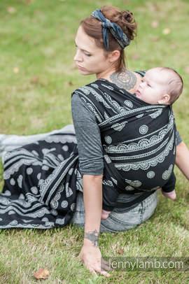 Baby Wrap, Jacquard Weave (100% cotton) - Glamorous Lace  - size XL