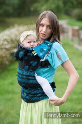 Nosidełko Ergonomiczne z tkaniny żakardowej 100% bawełna , Toddler Size, Boska Koronka - Druga Generacja. (drugi gatunek)