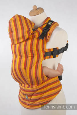 Ergonomic Carrier, Toddler Size, diamond weave 100% cotton - wrap conversion from SURYA DIAMOND