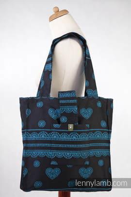 Shoulder bag made of wrap fabric (100% cotton) - DIVINE LACE - standard size 37cmx37cm (grade B)