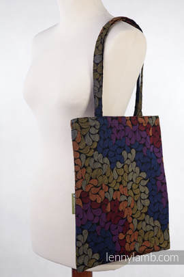 Shopping bag made of wrap fabric (100% cotton) - COLORS OF MAGIC